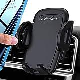 Avolare Handyhalterung Auto Handyhalter fürs Auto Lüftung Handy KFZ Halterungen Universal Kompatibel für iPhone 11 Pro,Xs Max, XR, X, 8, 7, 6, Samsung S10 S9 S8, Huawei Xiaomi (Schwarz) -