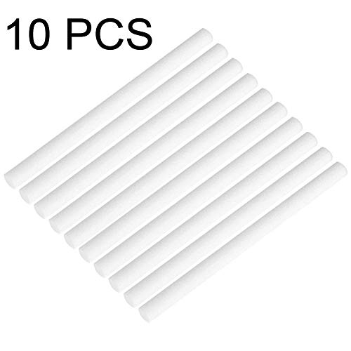 10 Stück Befeuchter Luftbefeuchter Filter Ersatzteil Sticks Wick Ersatz Mini Personal USB Ersatzschwämme Refill Stick Luftbefeuchter Diffusor Cotton Sticks