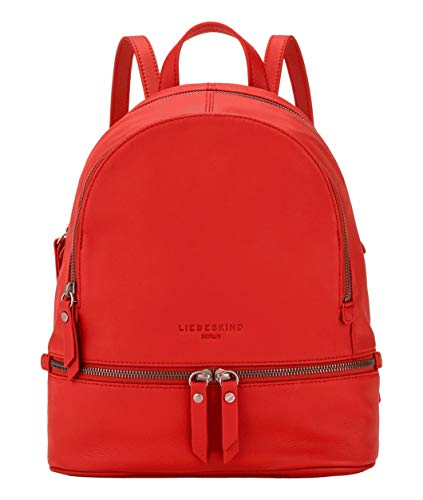 Liebeskind Berlin Damen Alita Backpack Rucksackhandtasche, Poppy red-2600, 11x38.5x34.1 cm
