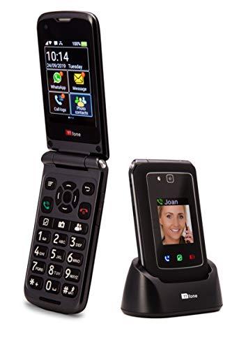 TTfone Titan TT950 Whatsapp 3G Pantalla táctil Senior Big Button Flip Teléfono móvil: fácil y fácil de Usar