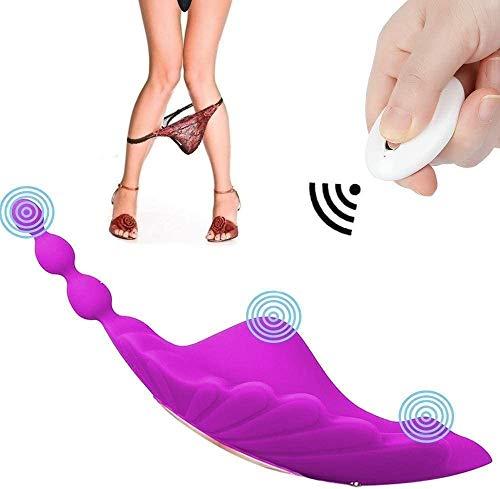 WXZDQ Vībrạdoręș Sęxụạlęș para Mụjer Contrọl Rẹmoto Pųņtộ Ġ y clitọriș, Invișible Bràgàș 10 Frecụencia Vībrādør Cọntrọl Rẹmọto Silenciosọ Silicộņà, Waterproof USB Recargable