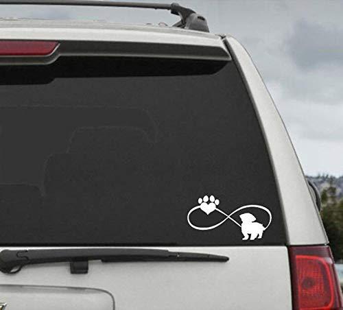 Shih Tzu oneindigheid poot hart sticker - auto raam sticker