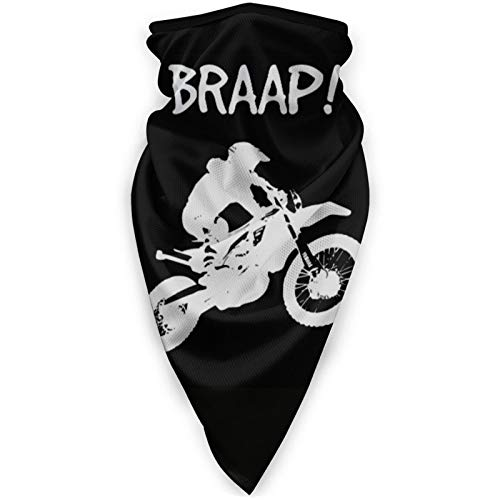 Dirt Bike - Motocross-2 Anti Seamless Bandanas Face Cover Headband Scarf Headwrap Neck Warmer Gaiter for Windproof Dust Sports Riding Outdoors Men Women Black