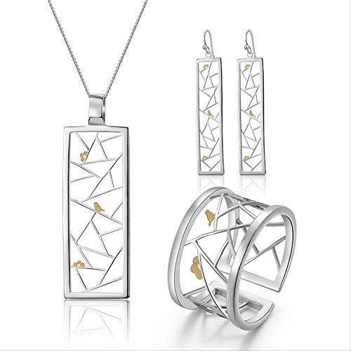Echte 925 Sterling Silber Feinschmuck Oriental Element Fenster Dekoration Papierschnitt Design Schmuck Set für Frauen