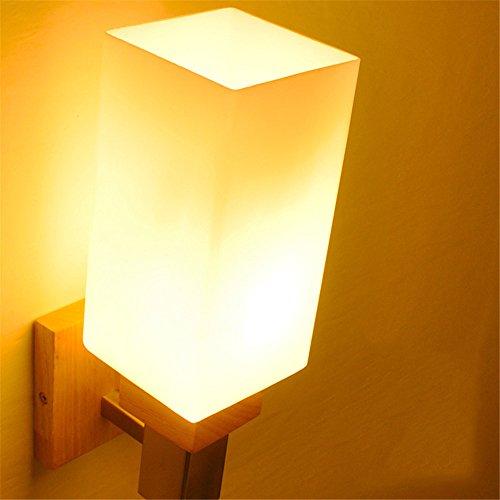 Amadoierly Style Japonais En Bois E27 Applique Murale Simple Éclairage Créatif Mur Lampe Chambre Chambre Salon Couloir