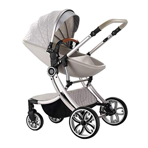 New LZGBH Baby Stroller Two-Way Fashion 2-in-1 Stroller Newborn Baby Child Stroller Foldable Reclini...