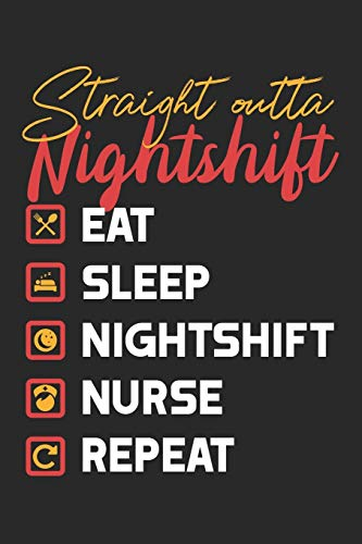 Straight outta Nightshift: Ein lustiges gepunktetes Notizbuch zum Sammeln von Zitaten, Erinnerungen und Geschichten Ihrer Patienten | Abschlußgeschenk für Krankenschwestern, Ärzte oder Krankenpfleger