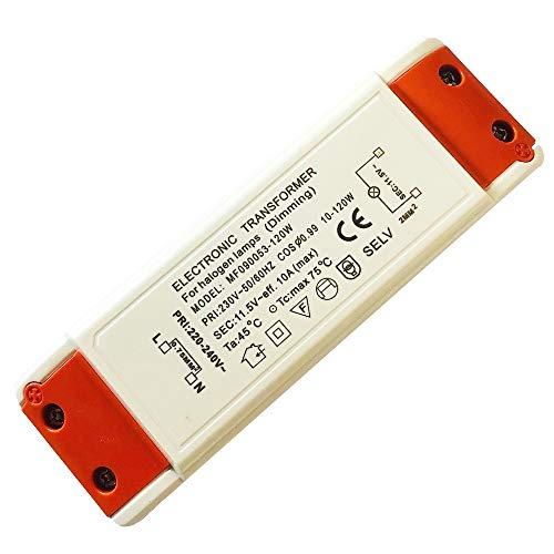 120Watt Elektronischer Halogen Trafo Transformator Dimmbar für Niedervolt Halogen LM - Leistungsbereich: 10 bis 120Watt