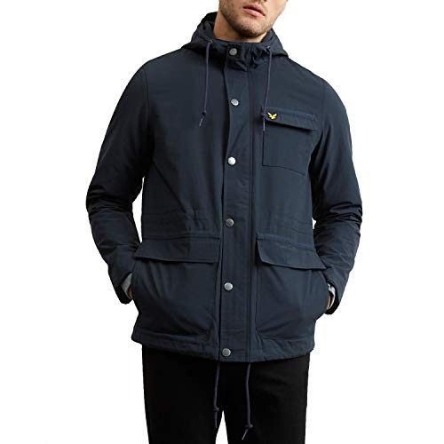 adidas Micro Fleece gevoerde jas met capuchon, blauw, S