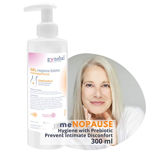 GYNEBAL Intimate Hygiene Gel With Prebiotics and Specific PH 8 for Mature Age, Menopause and Perimenopause - Helps to Prevent Recurrent Infections and Maintains Vaginal Flora – Pharmaceutical – 300 ml
