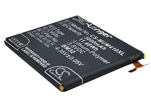 CS-MUM410XL Batería 3000mAh Compatible con [XIAOMI] 4, Leo, Mi4, Mi4 4G, Mi4W sustituye BM32
