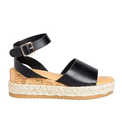 Amazon - Save 65%: LAICIGO Women's Summer Espadrilles Platform Ankle Buckle Open Toe Slingbac…