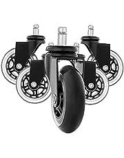 Stoel Wieltjes Wheels Verwisselbare Plastic Office Rolling Chair Castors Black 5PCS Furniture Hardware