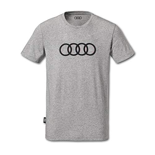 Audi collection 313170181 Audi T-Shirt Ringe, Herren, grau, XXL