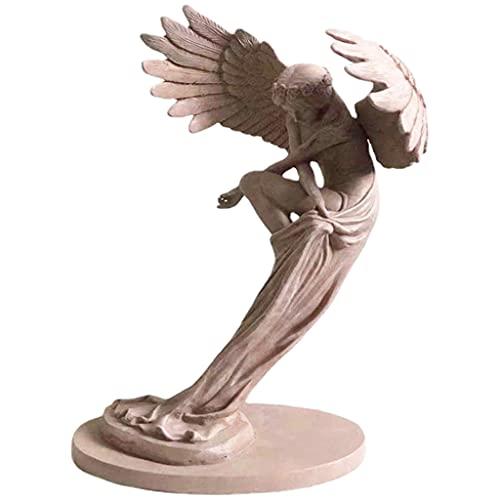 perfk Escultura de Ángel de la redención de Resina Accesorios de la Foto de la Sala de Estar del hogar Estante de la TV estantería de la Iglesia de