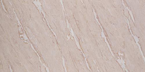 Deko Wandverkleidung in Marmor- und Granitoptik für Küche, Wohnzimmer, Wintergarten und Büroräume (Bilecik Beige)
