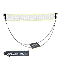Simple Design: The badminton net is portable, foldable and lightweight, the package size is about 60cm, the set is only about 750g. Open size: 300cm x 150cm. You can bring the fun anywhere. (ONLY NET) Lightweight Durability: This folding badminton ne...
