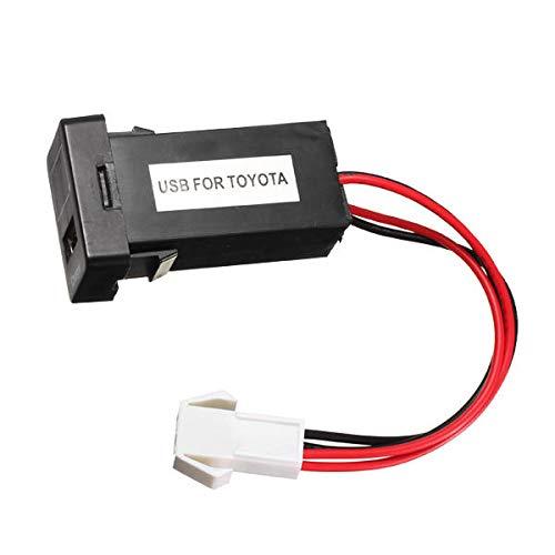 ZWwei Piezas de automóviles JZ5003-1 Cargador de batería de automóvil 2.1A Puerto USB con voltímetro de visualización de Voltaje MODIFICACIÓN para Nuevo Toyota Herramientas y Equipos de automóviles