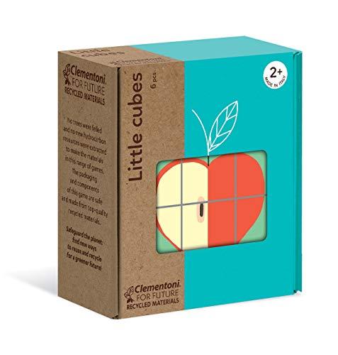 Clementoni- Little Fruits-Puzzle de Cube 6 pièces-matériaux 100% recyclés-fabriqué en Italie, 2 Ans et Plus, 16224, Multicolore