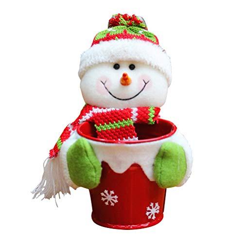 BESTOYARD Kerstmis Snoeppot Stof Snoep Chocolade Container Kleine Tafel Opbergdoos