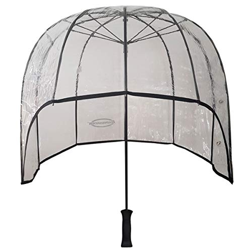 Rainshader All Clear Windproof Dome Umbrella Versatile for Men and Women Strong Lightweight Stormproof Ergonomic Handle and includes Shoulder Strap