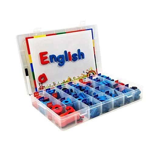 Magnetbuchstaben 104 Stück Schaumstoff Alphabet Magnete mit Schreiben Zeichentafel Pädagogisches Spielzeug für Vorschule Lernen Rechtschreibung