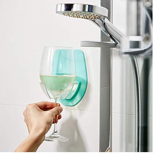 PiniceCore Saingace Art und Weise Neue festen Watt Kunststoff Weinglashalter für das Bad Dusche Rotwein-Glas-Halter für Dekor grau Haus