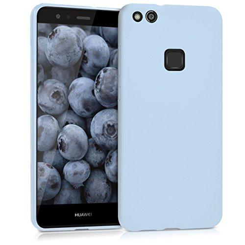 kwmobile Funda Compatible con Huawei P10 Lite - Carcasa de TPU Silicona - Protector Trasero en Azul Claro Mate