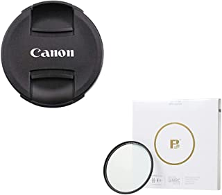 SPEEX 58mm Lens Cap for Canon Replaces E-58 II Black+58mm UV Filter for Camera Lenses