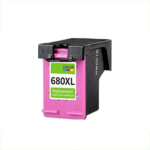 TEZAI Fácil de Agregar Tinta es Adecuado para HP HP680 Cartuchos de Tinta HP DeskJet3638 2138 3838 4538 4678 3636 3779 3777 3638 2678 3638 1118 Impresora Cartuchos de Tint Color