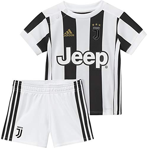 adidas Kinder Juventus Turin Heim Mini Kit, White/Black, 80.0