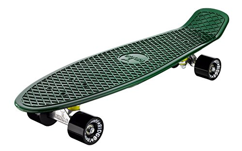 Ridge Organics 27 Zoll Cruiser Board EU-hergestelltes Skateboard Skate Komplett, Evergreen