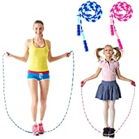 2-Pack iMucci 9 Feet Soft Beaded Jump Rope
