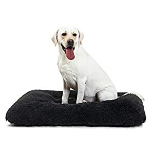 ANWA Dog Bed Extra Large Dogs, Washable Dog Bed Crate Pad for Cage Kennel, Dog Bed Crate Mat 42″