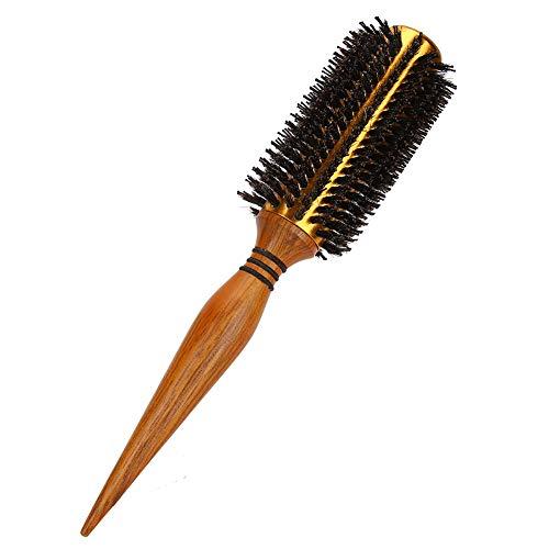 【𝐅𝐞𝐥𝐢𝒛 𝐍𝐚𝒗𝐢𝐝𝐚𝐝 𝐝𝐞 𝐑𝐞𝐠𝐚𝐥𝐨】ABS peine manual secador de pelo cepillo rizador cepillo de pelo redondo antiestático, flequillo recto, para el cuidado del cabello de las mujeres