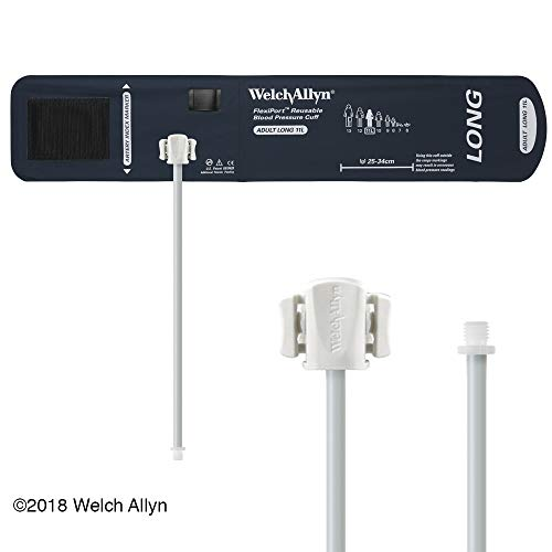 Welch Allyn - REUSE-11-1SC FlexiPort Blood Pressure Cuff; Size-11 Adult, Reusable, 1-Tube, Male Screw (#5082-164) Connector; range 25-34 cm