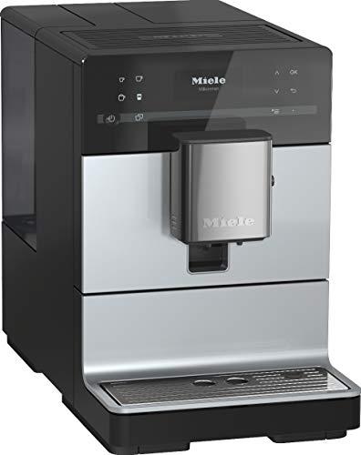 Miele CM 5500 Kaffeevollautomat (OneTouch- und OneTouch for Two-Zubereitung, 2 Genießerprofile, automatische Spülprogramme, komfortable Reinigungsprogramme, Edelstahl-Kegelmahlwerk) grau