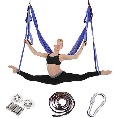 Ramingt-Outdoor Sports Yoga Hammock Cinghie for Yoga Amaca for Yoga Amaca for gravità inversa con Cintura di Estensione e Piastra sospesa / 5 Colori (Color : White, Size : 250x150cm)