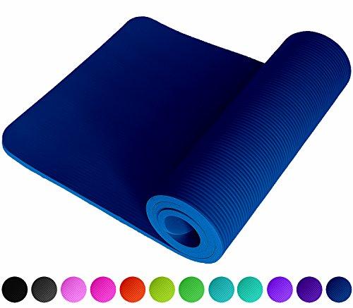 REFIT High Performance Fitnessmatte in Blau Blue Cyan rutschfest gelenkschonend EXTRA dick weich hautfreundlich 183 x 61 x 1.5 cm mit gratis Trageband Fitness Yoga Gymnastik Meditation Pilates