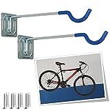Parpyon® Porta biciclette da muro 2 gancio bici muro, porta bici, porta attrezzi da parete, porta biciclette da terra portabici da tetto vari modelli (Parete Lungo)