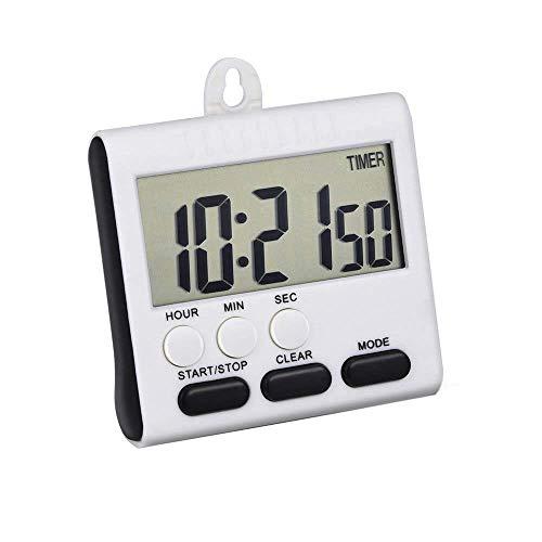 WESDOO Temporizador LCD Digital Alarma de Cocina Minutero Reloj de Cocina para el hogar, Cocina, Cocina y repostería (Negro)