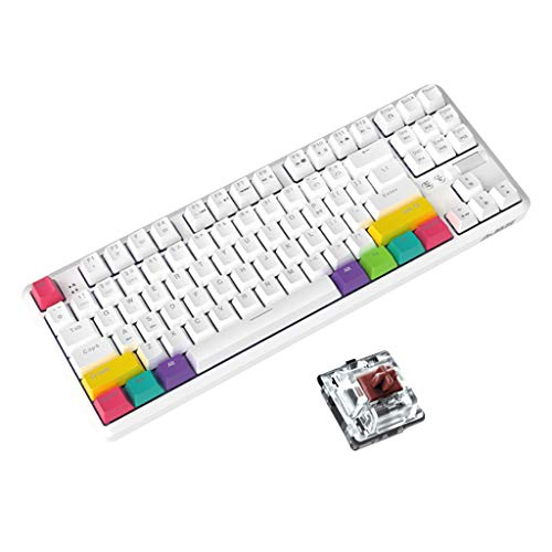 Boji Tastiera Bluetooth, 87 tasti, Bluetooth Wired/Wireless Meccanica per Ajazz K870T con RGB