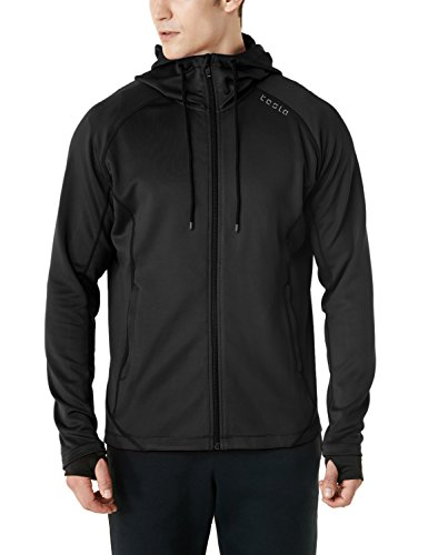 TSLA CLSL Men's Performance Active Training Full-zip Hoodie Jacket, Active Fullzip(mkj03) - Black, Medium