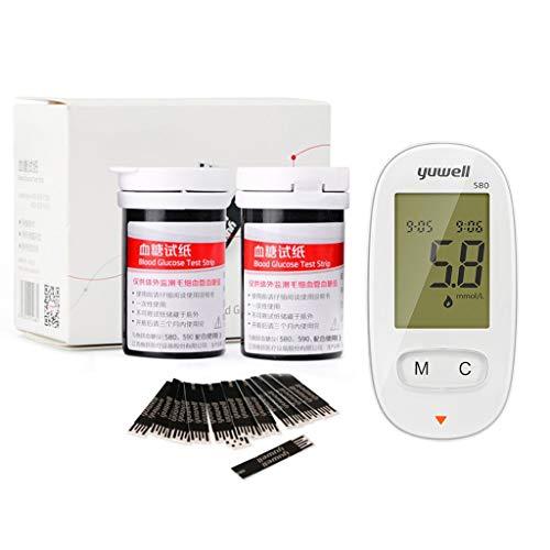 Gwxevce Misuratore di glicemia Automatico glucometro con 50 Strisce reattive