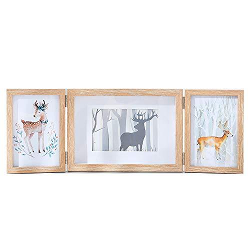 HOPABTO Bilderrahmen für 3 Bilder Mehrfach Collage Holz Fotorahmen für 10x15 und 13x18 cm von Mehrere Fotos