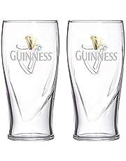Guinness Set van twee zwaartekracht 20 ounces bierglazen met logo en harpdesign