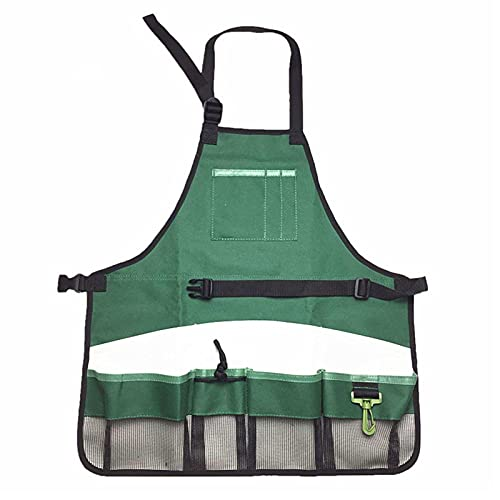 Modonghua Oxford Tuch Gartenschürze Gartenschürze für Haus Garten Wasserdicht Strapazierfähige Arbeitsschürze mit Werkzeugtaschen Verstellbar für Damen und Herren