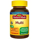 Nature Made Multivitamin Tablets with Vitamin D3 and Iron, 130 Count for Daily Nutritional Support