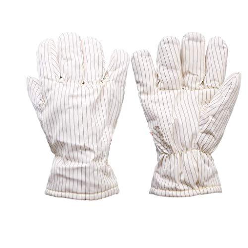 ZFZ Handschuh, Handschuhe, Handschuh, 300 Grad-Hochtemperatur-Handschuhe Insulated Anti-Statik-Handschuhe Reinraum Spezielle staubfreie Handschuhe, Keine Späne 26 / 40cm, White26cm,White26cm