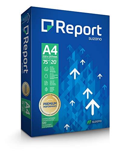 Papel Sulfite Report A4-210 x 297 mm 75g Branco Pacote com 500 Folhas
